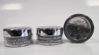 COLOUR ACRYL Glitter schwarz 5 g