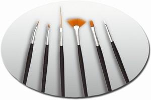 Nail-Art Pinsel Set mit 6 Pinseln