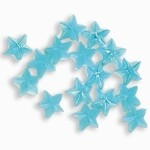 Sparkling Nail Stars hellblau 50 Stück