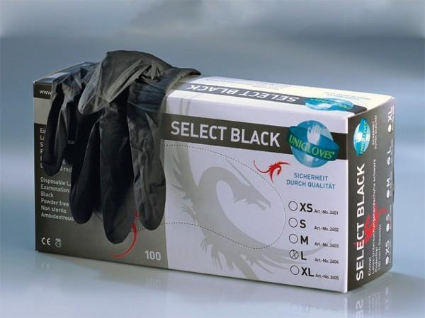 Latex- Hadschuhe Größe S schwarz 100 Stück