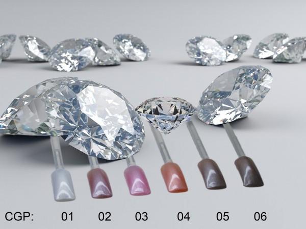 Colour Gel DIAMOND Set 6 X 4,5 ml