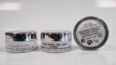 COLOUR ACRYL Glitter weiss 5 g