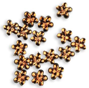 Nail Flowers braun 50 Stück