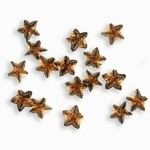 Sparkling Nail Stars braun 50 Stück